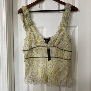 BCBG Max Azria Silk Chiffon Blouse Size L